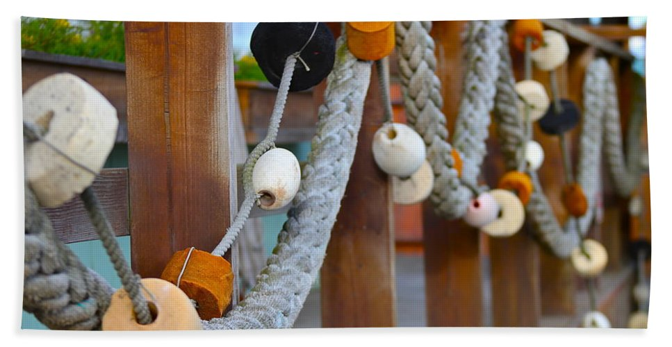 Rope Beach Towel featuring the photograph Corks by Rick Monyahan