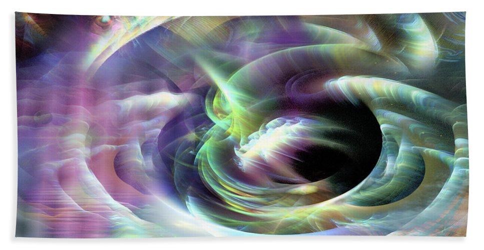 Phil Sadler Beach Towel featuring the digital art Coriolis by Phil Sadler