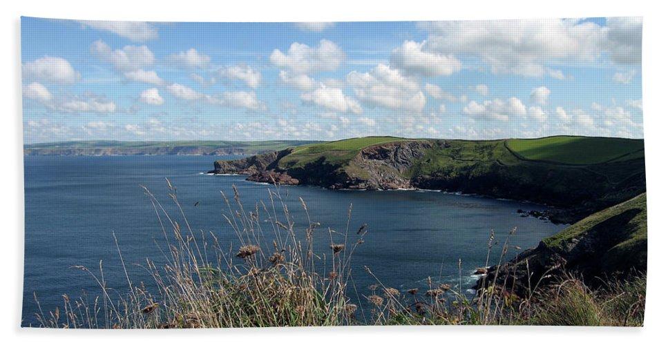 Cornwall Beach Towel featuring the photograph Cornwall Coast 4 by Kurt Van Wagner