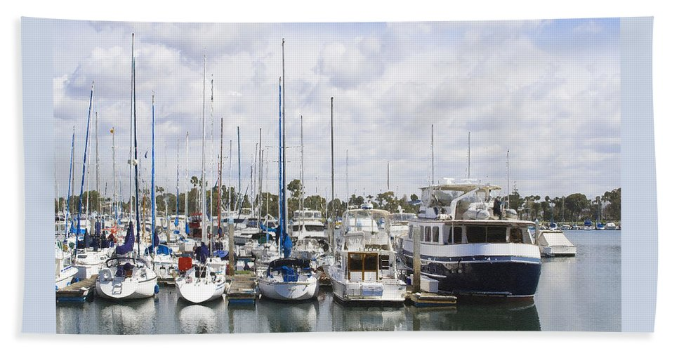Coronado Beach Towel featuring the photograph Coronado Boats II by Margie Wildblood