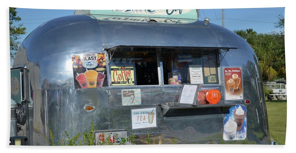 Eatery Beach Towel featuring the photograph Cosmic Cafe by Paula Goodman
