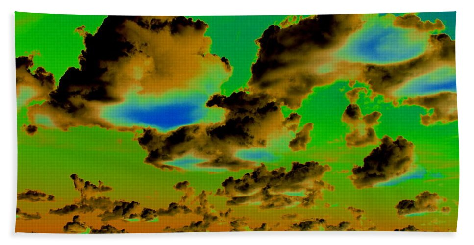 Photo Art Beach Towel featuring the photograph Cosmic Cloud Skyline by Ben Upham III