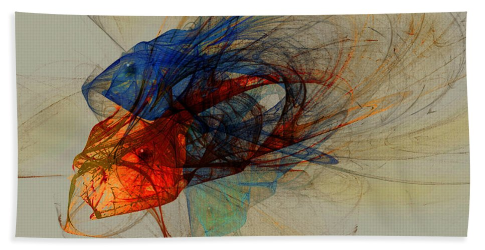 Fish Beach Sheet featuring the digital art Cosmic Fish by Stephen Lucas