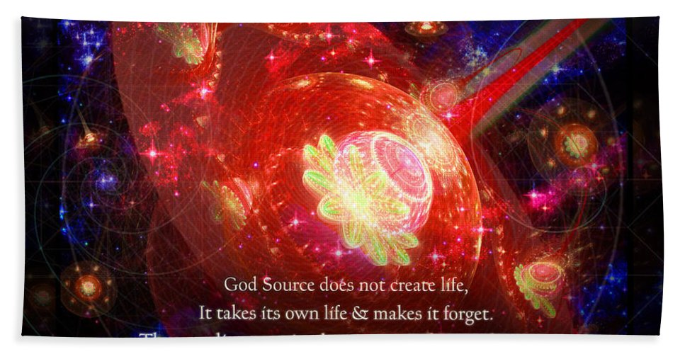 Corporate Beach Towel featuring the mixed media Cosmic Inspiration God Source 2 by Shawn Dall