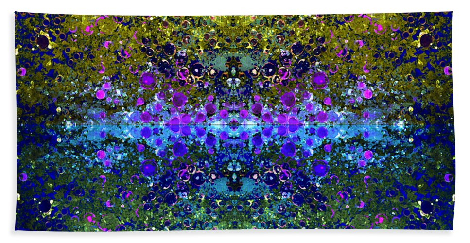 Abstract Beach Towel featuring the photograph Cosmos Crown Jewels 2 by Angelina Vick