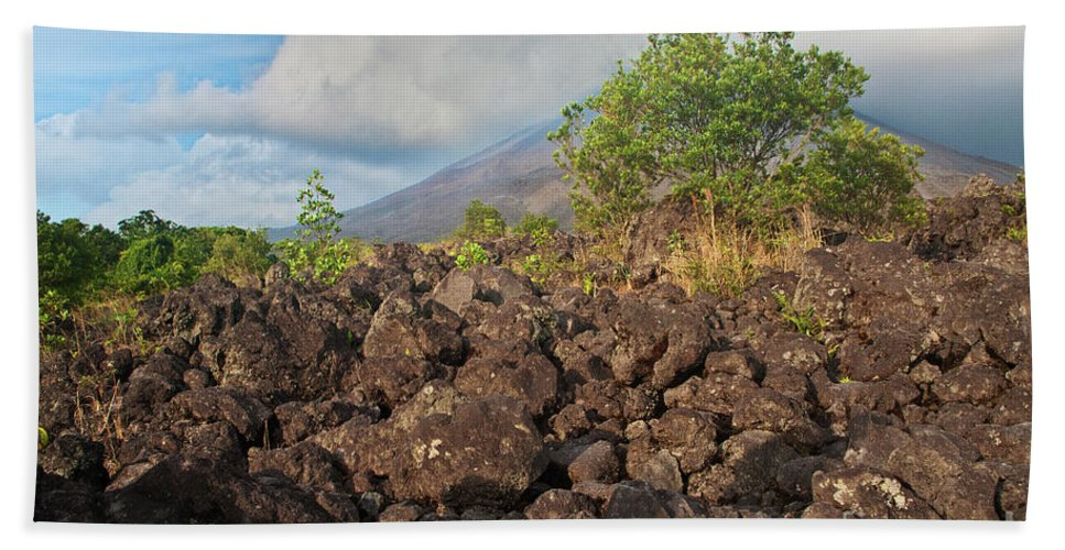 Volcano Beach Towel featuring the photograph Costa Rica Volcanic Rock II by Madeline Ellis