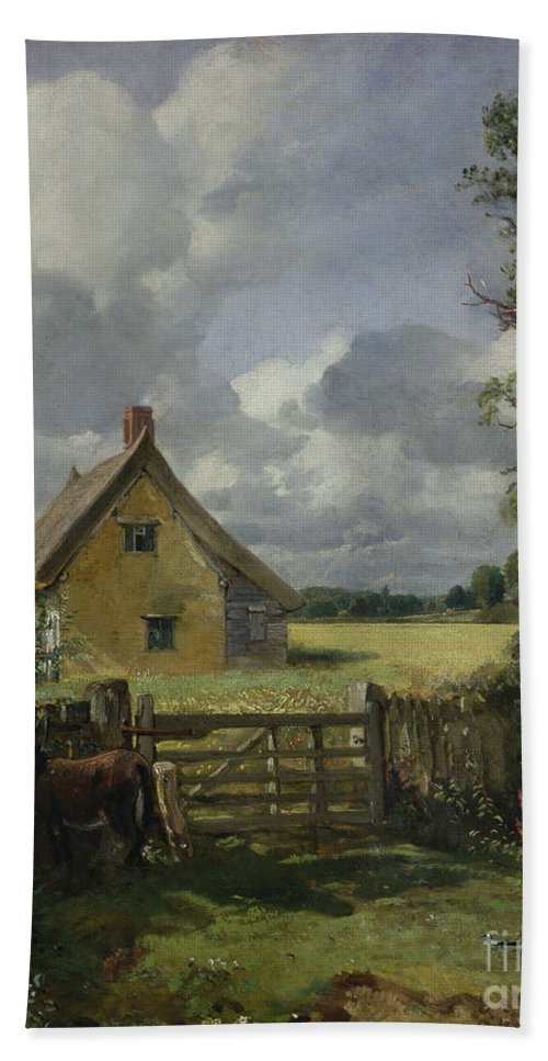 Cottage Beach Towel featuring the painting Cottage In A Cornfield by John Constable