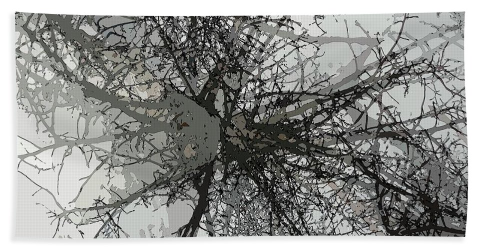 Cottonwood Beach Towel featuring the photograph Cottonwood Tree Montage by Ron Bissett