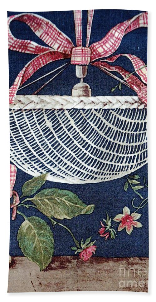 Blue Beach Towel featuring the drawing Country Basket by Writermore Arts