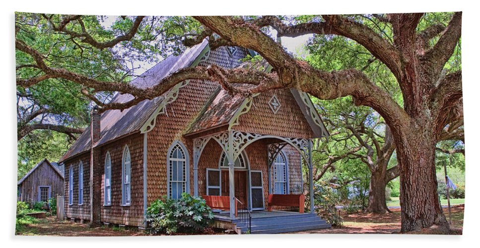 Architecture Beach Towel featuring the photograph Country Church by Marcia Colelli