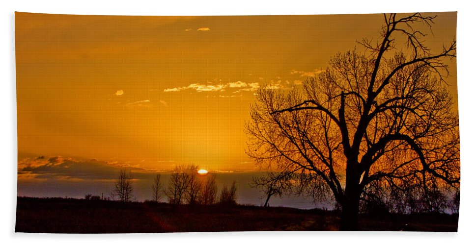 Sunrise Beach Towel featuring the photograph Country Golden Sunrise by James BO Insogna