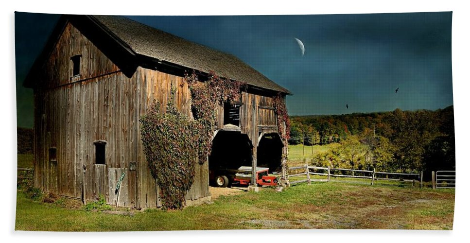 Barn Beach Towel featuring the photograph Country Moves by Diana Angstadt