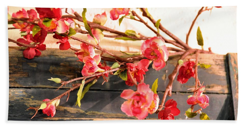 Still Life Beach Towel featuring the photograph Country Quince by Jan Amiss Photography