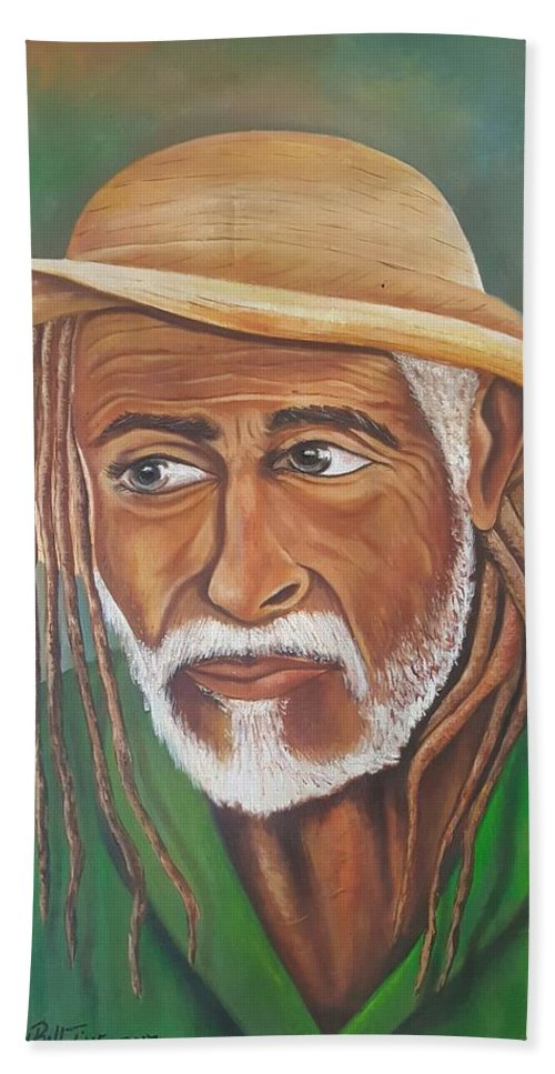 Rasta Beach Towel featuring the painting Country Rasta by Andy Ballentine