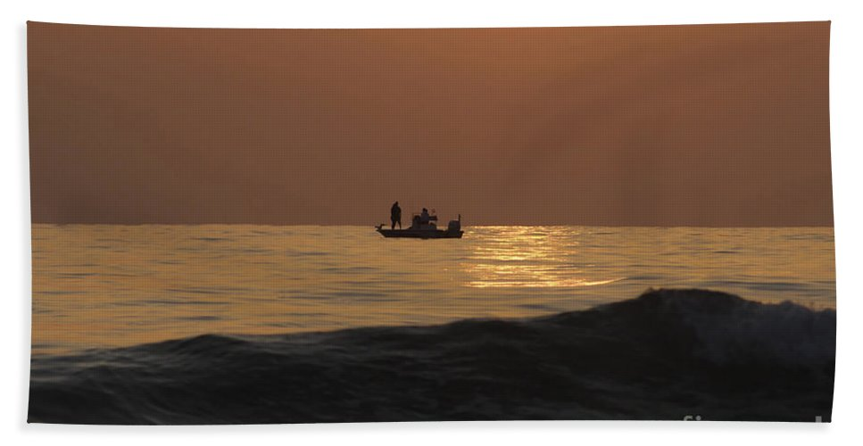Sunset Beach Towel featuring the photograph Couples At Sunset by David Lee Thompson