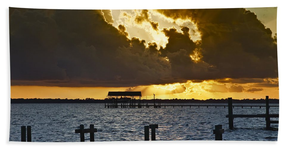 Bay Beach Towel featuring the photograph Courtship by Janet Fikar