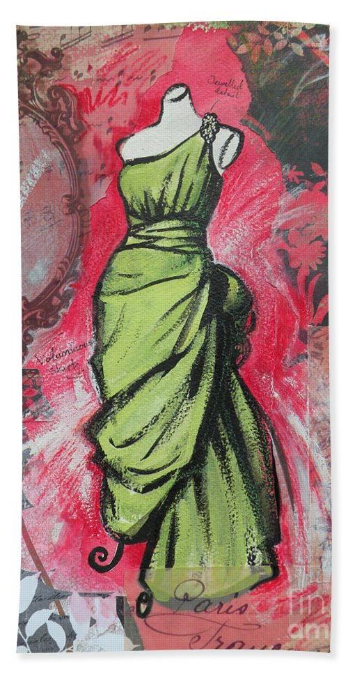 Fashion Beach Towel featuring the painting Couture II by Leigh Banks