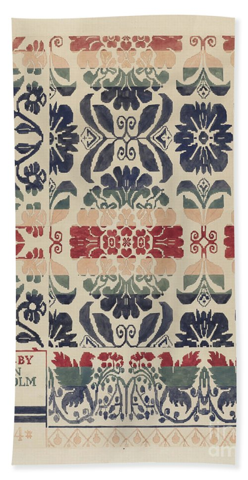 Beach Towel featuring the drawing Coverlet by Dorothy Posten