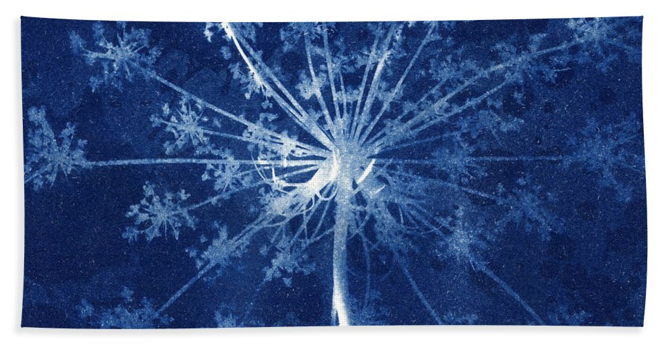 Blue Beach Towel featuring the photograph Cow Parsley by Elspeth Ross