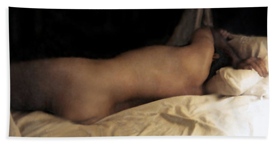 Nude Beach Towel featuring the photograph Cowboy Dreaming by RC DeWinter