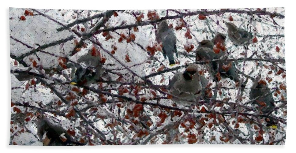 Apples Beach Towel featuring the digital art Crab Apples by Ron Bissett