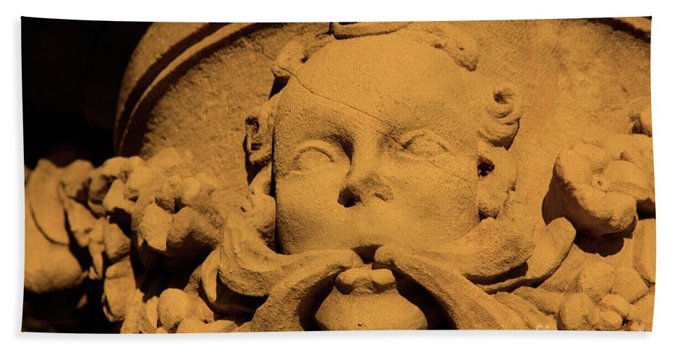 Sepia Beach Towel featuring the photograph Cracked God by Dean Triolo