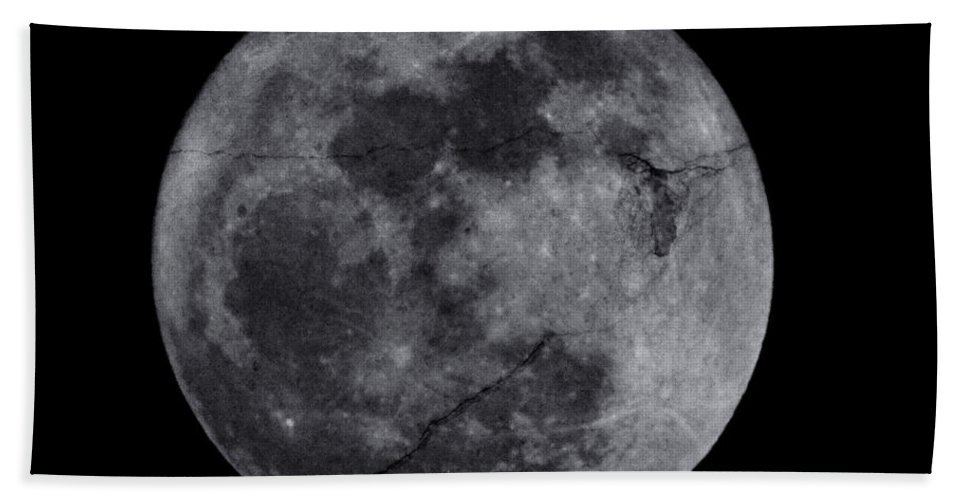 Cracked Beach Towel featuring the photograph Cracked Moon by Bill Cannon