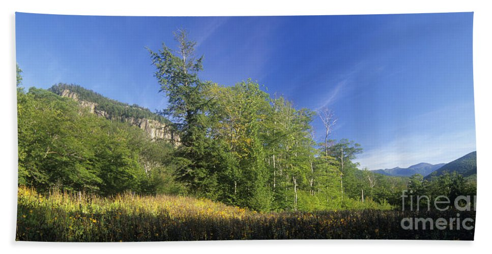 Crawford Notch Beach Towel featuring the photograph Crawford Notch State Park - Frankenstein Cliff White Mountains Nh Usa by Erin Paul Donovan