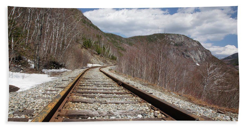 White Mountains Beach Towel featuring the photograph Crawford Notch State Park - Maine Central Railroad by Erin Paul Donovan