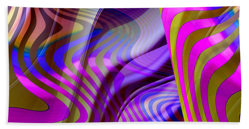 ruth Palmer Beach Towel featuring the digital art Crazy Busy by Ruth Palmer