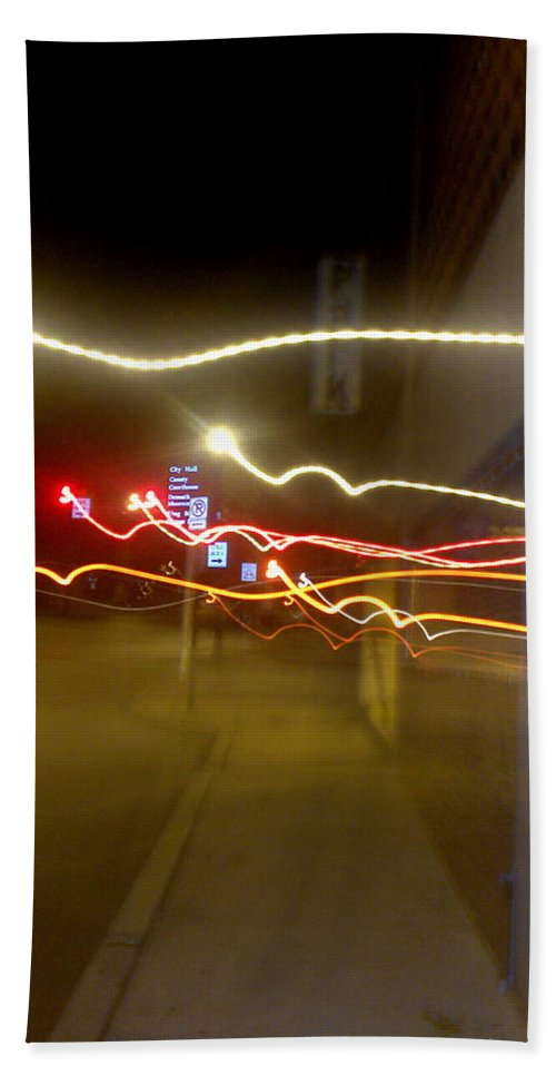 Photograph Beach Towel featuring the photograph Crazy Duke Street Lights by Thomas Valentine