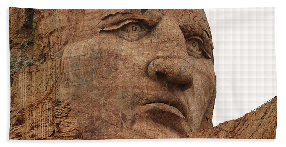 Crazy Horse Beach Towel featuring the photograph Crazy Horse by Christopher Miles Carter