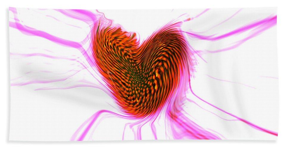 Abstract Art Beach Towel featuring the digital art Crazy Love by Linda Sannuti