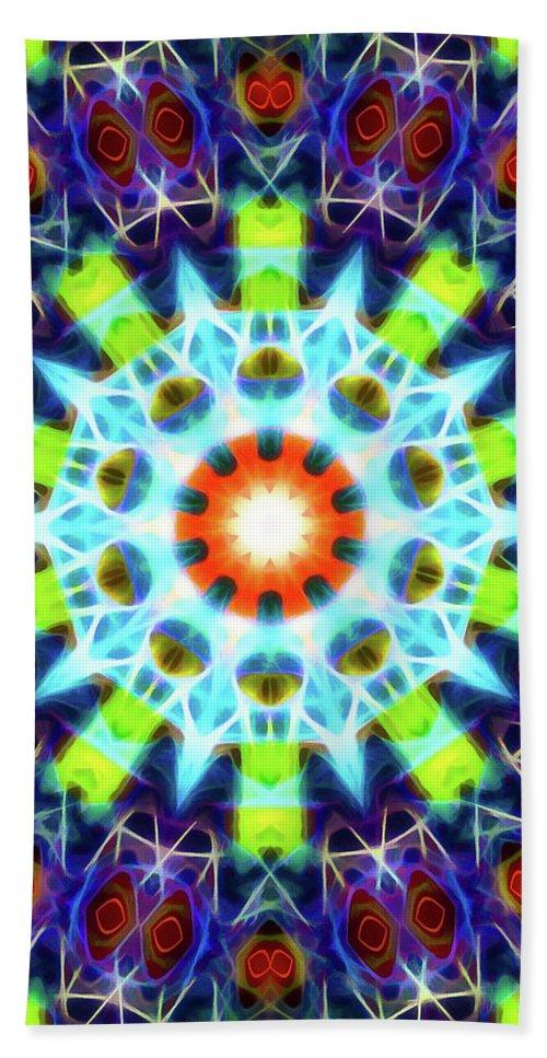 Mandala Art Beach Towel featuring the painting Creation by Jeelan Clark