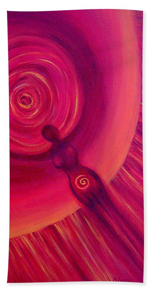 Original Beach Towel featuring the painting Creativity by Melissa Joyfully