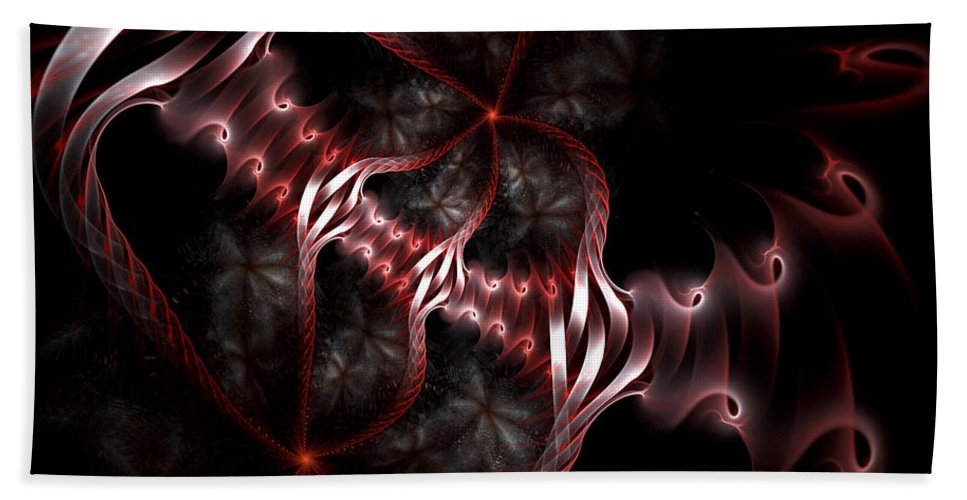 Fractal Beach Towel featuring the digital art Creatures Of The Deep by Amorina Ashton