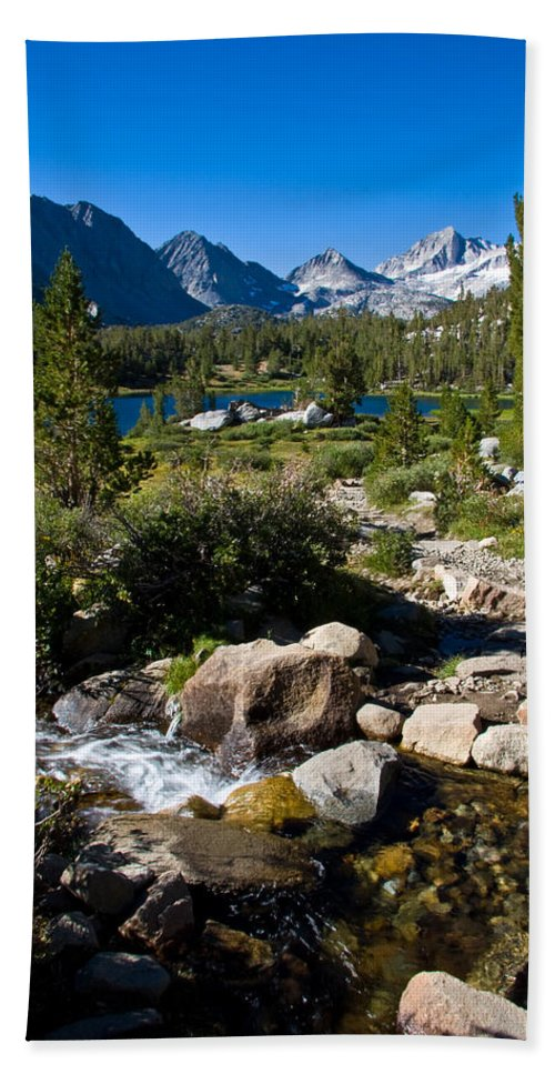 Heart Lake Foliage Beach Towel featuring the photograph Creek At Heart Lake by Chris Brannen