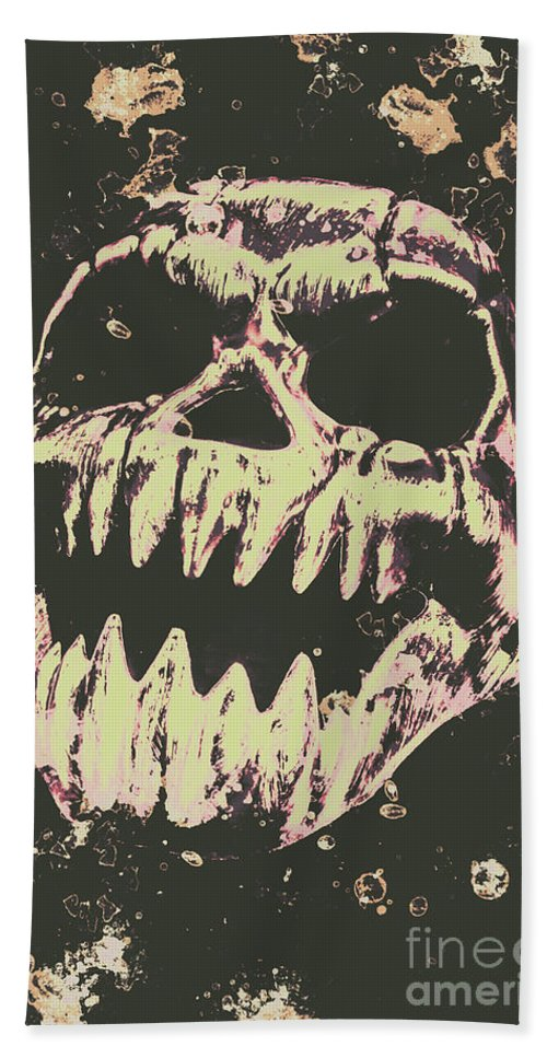 Monster Beach Towel featuring the photograph Creepy Face From Nightmares Past by Jorgo Photography - Wall Art Gallery