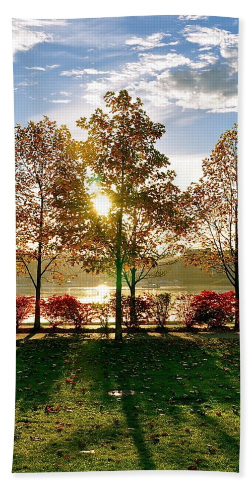 Autumn Beach Towel featuring the photograph Crisp Autumn Day by Caroline Reyes-Loughrey