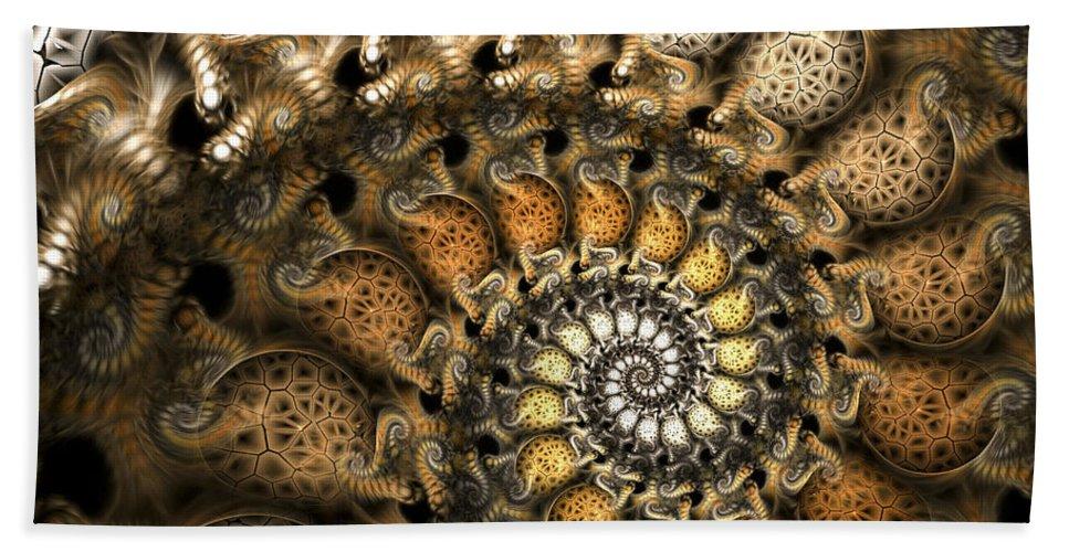 Fractal Beach Towel featuring the digital art Crispy Crackles by Amorina Ashton