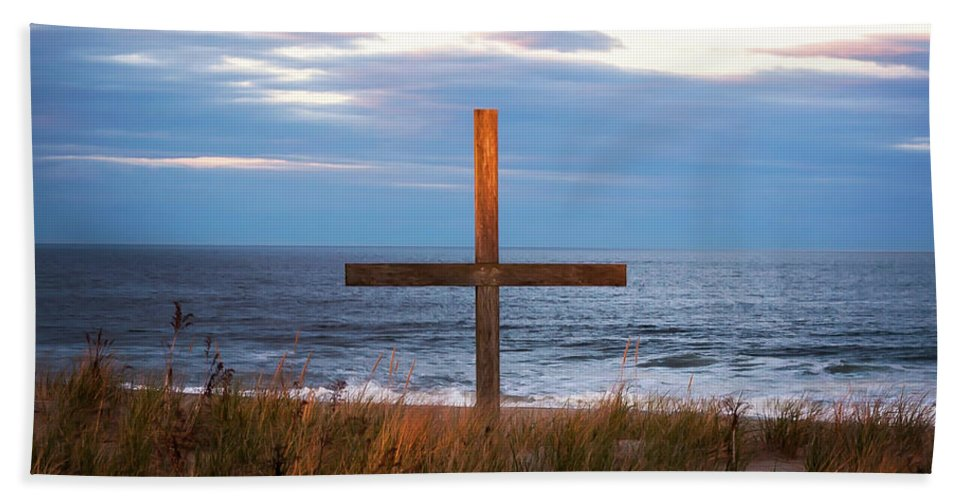 Terry D Photography Beach Towel featuring the photograph Cross Light Square by Terry DeLuco