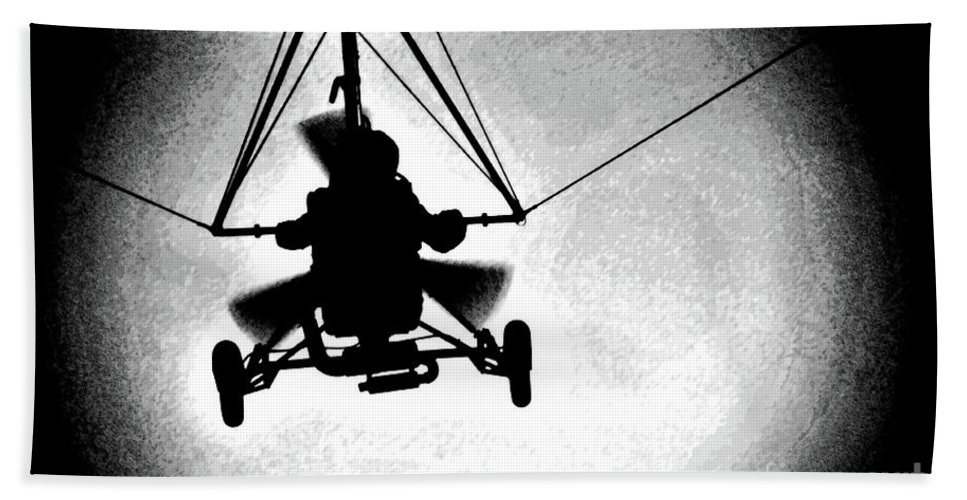 Delta Beach Towel featuring the photograph Crossing The Air by Ilaria Andreucci