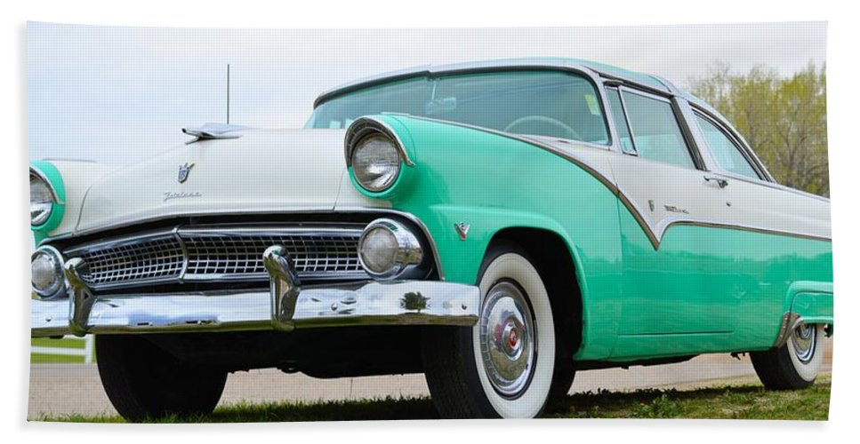 50s Beach Towel featuring the photograph Crown Victoria by Bonfire Photography