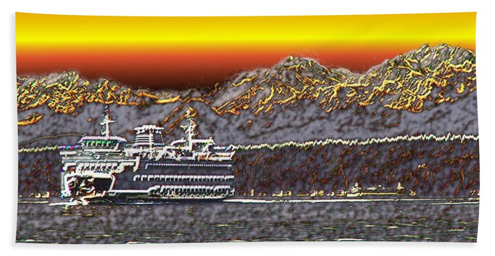 Seattle Beach Towel featuring the photograph Cruisin The Sound by Tim Allen