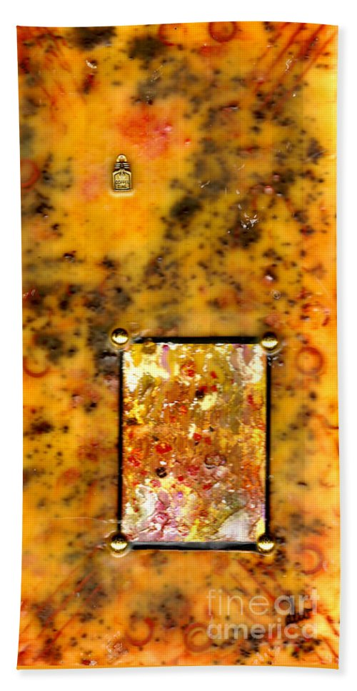 Wood Beach Towel featuring the mixed media Crumpets With My Coffee Please by Angela L Walker