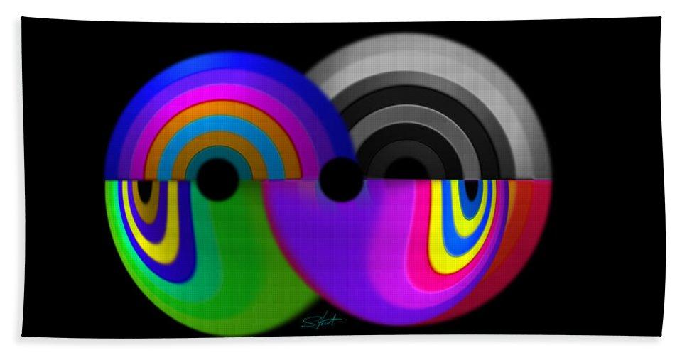 Crystal Beach Towel featuring the digital art Crystal Ball by Charles Stuart