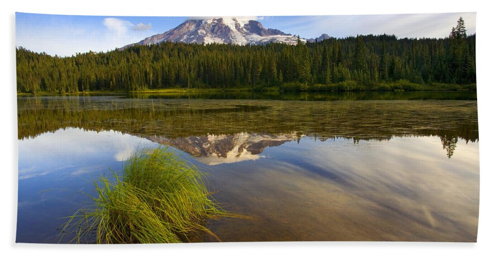 Lake Beach Towel featuring the photograph Crystal Clear by Mike Dawson