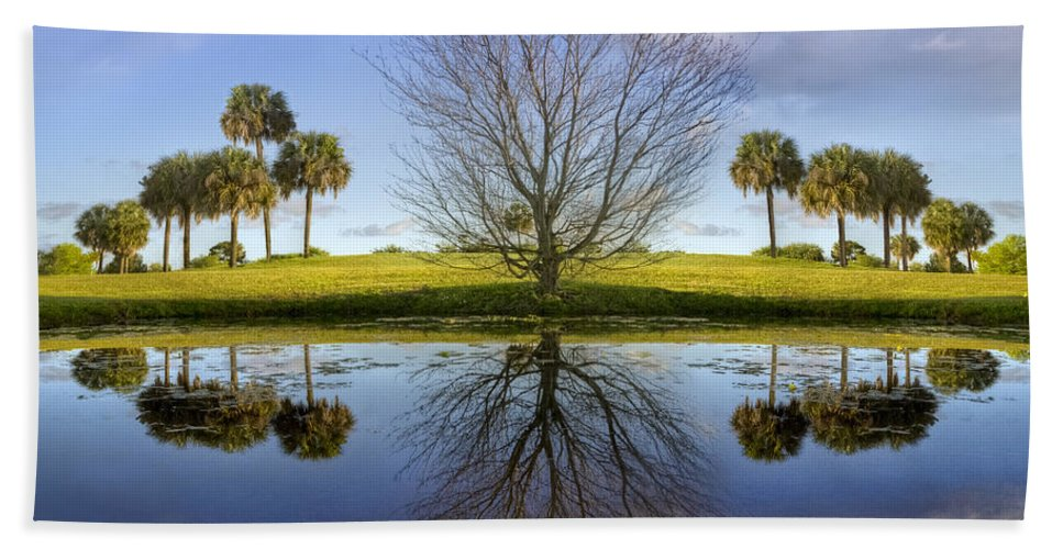 Clouds Beach Towel featuring the photograph Crystal Waters by Debra and Dave Vanderlaan