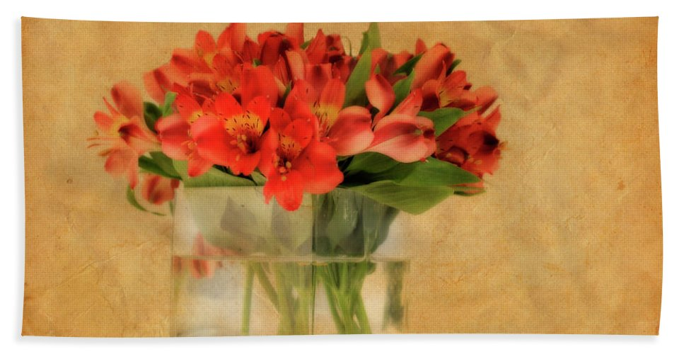 Flowers Beach Towel featuring the photograph Cultivated Beauty by Shelley Neff