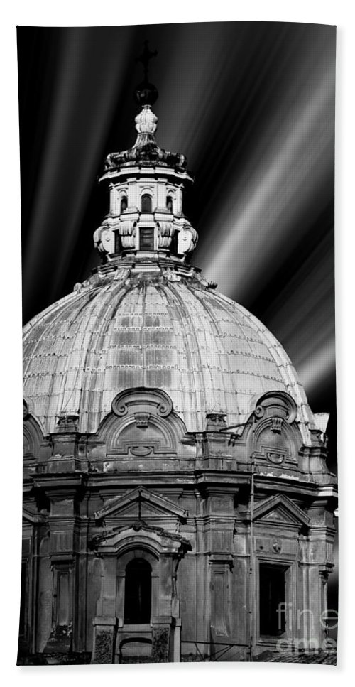 Architecture Beach Towel featuring the photograph Cupola In Rome by Stefano Senise